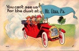 Pennsylvania Mt Etna Couples In Car 1914 Pennant Series