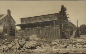 Newagen ME Inn Log Cabin Annex c1915 Real Photo Postcard