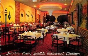 Satellite Restaurant Chatham Ontario Canada Fountain Room Postcard