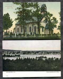 820 - SHELBURNE NS c1906-1908 Lot of (2) Postcards