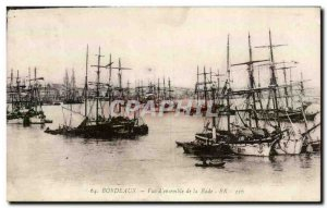 Postcard View of Old Bordeaux & # 39ensemble the harbor