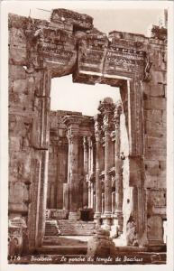 Lebanon Baalbeck Le porche du temple de Bacchus 1959 Real Photo