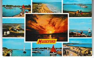 Post Card Dorset MUDEFORD 9 views Dennis Productions M.2214