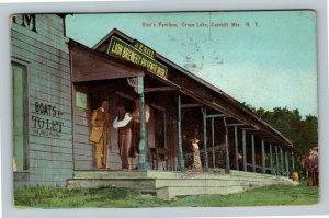 Green Lake NY ,Lion Brewery, Ritz's Pavilion, Catskill New York c1910 Postcard