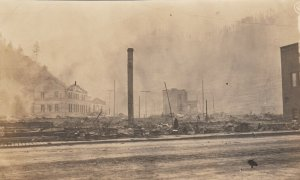 RP: WALLACE, Idaho, 1900-10s; Fire aftermath