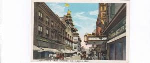 SAN FRANCISCO, California, PU-1926; Chinatown showing store fronts