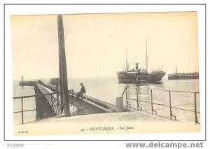 DUNKERQUE, France, 00-10s,Les Jetees, Ship leaving port