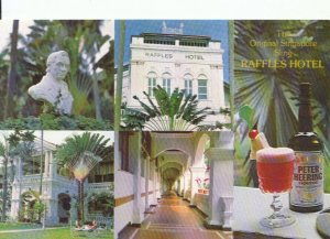 Singapore Postcard - Views of Raffles Hotel - Original Singapore Sling - 18791A