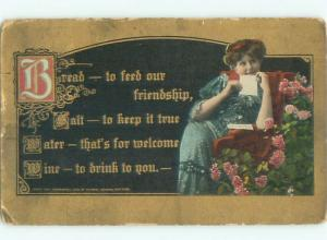 Divided-Back PRETTY WOMAN Risque Interest Postcard AA7809