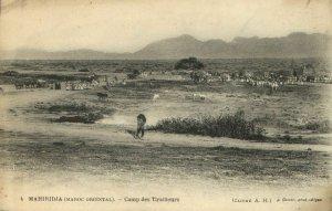 CPA AK MAROC Geiser MAHIRIDJA Camp des Tirailleurs (69209)