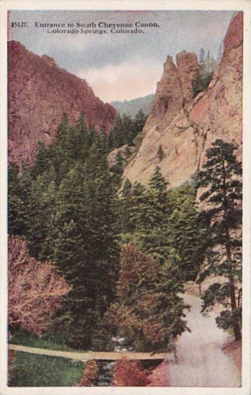 Colorado Colorado Springs Entrance To South Cheyenne Canon