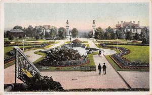 Pittsburg Pennsylvania~Entrance to Highland Park Down Steps~1908 Detroit Pub Co