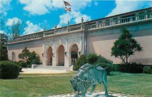 Sarasota Florida~Ringling Museum of Art~Bronze Lygia & the Bull~1960s Postcard