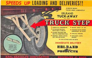 Brooklyn MA Truck Step Speeds Loading & Deliveries Linen Postcard