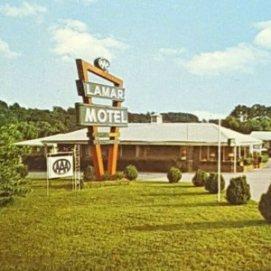 Vintage Postcard Lamar Motel Marietta Georgia AAA
