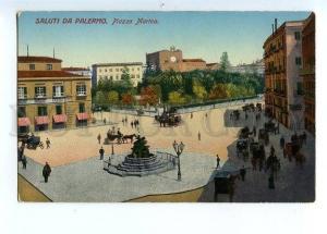 129633 SALUTI Da PALERMO Piazza Marina GREETINGS From PALERMO