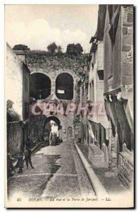 Old Postcard Dinan Street and Porte de Jerzual