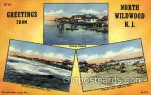 North Wildwood, NJ, New Jersy, USA Large Letter USA Town, Towns, Postcard Pos...