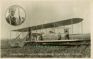 Circa-1913 Pioneer Aviation Real Photo Postcard: Atwood & Burgess-Wright Biplane