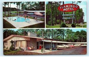 Flamingo Motel Waycross GA Georgia Vintage Postcard D94