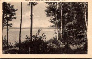 New Hampshire Winnipesaukee Sunset Tryst Geneva Point Camp 1938