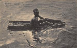 Tanzania Zanzibar Native Diving Boy Postcard