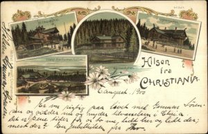 Hilsen Fra Christiania Norge Norway c1900 Used Postcard
