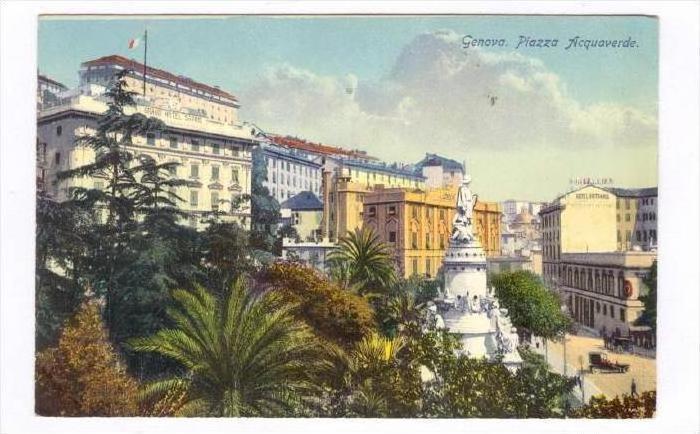 Genova. Piazza Acquaverde, ITALY , 00-10s