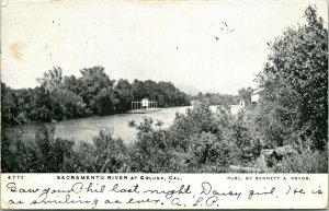 Vtg Postcard 1907 Sacramento River at Colusa - Undivided - Bennett A. Pryor Pub