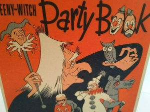 Halloween Vintage Weeny Witch Party Book Original Masks Cutouts Recipes 1955