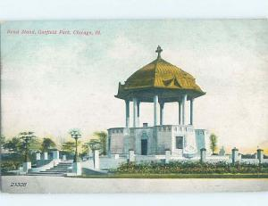 Divided-Back GARFIELD PARK BANDSTAND Chicago Illinois IL H3615