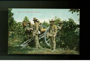 1909 RPPC real picture postcard cover US Army Artillery Unit
