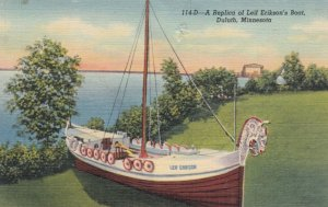 DULUTH, Minnesota, 1930-1940s ; A Replica of Leif Erikson's Boat