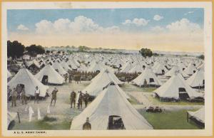 A U.S. Army Camp, Tents as far as the eye can see!