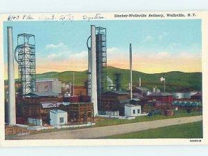 Pre-Chrome FACTORY SCENE Wellsville - Near Olean & Hornell New York NY AG3674