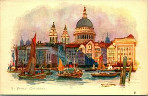 Vtg Set 8 Postcards Londres Angleterre Scènes Vivian Mansell & Co. Ltd. Ser 2124
