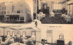 Littleton New Hampshire Lees Hotel Multiview Antique Postcard K52238