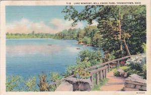 Ohio Youngstown Lake Newport Mill Creek Park 1939 Curteich