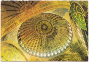 ISTANBUL, Ayasofya, Dome of St. Sophia, Turkey, 1978 used Postcard