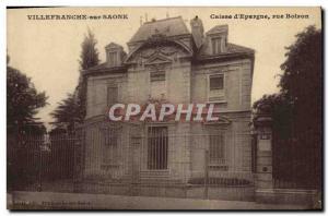 Old Postcard Bank Caisse d & # 39Epargne Boiron Street Villefranche
