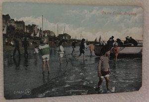 Vintage Postcard On Sands Brighton Beach Brooklyn New York