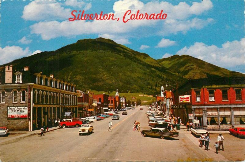 Silverton Colorado Main Street Co Grand Imperial Hotel Old Cars
