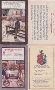 A Yorkshire Lass Tiv Her Lad Leeds Maid Tak Lad Hod An Sup 4x Old Postcard s