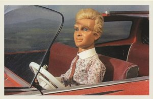 Alan Tracy In Red Classic Sports Car Thunderbirds TV Show Postcard