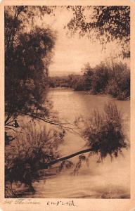 Jordan Old Vintage Antique Post Card The Jordan River Unused