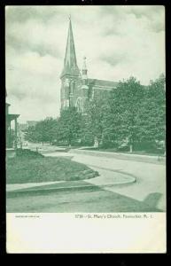 RI, Pawtucket, Rhode Island, Saint Mary's Church