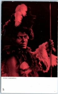 c1900s TUCK'S Series 828 Postcard PRINCE LOBENGULA England UK Unused