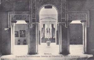 Spain Sevilla Exposicion Iberoamericana Interior del Pabellon de Artes e Indu...