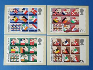 Set of 4 PHQ Stamp Postcards Set 35 FIRST DAY ISSUE European Assembly Elections