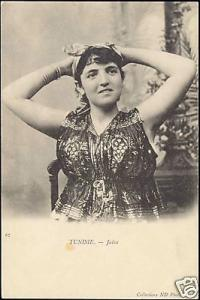 tunisia, Jewish Girl, Juives Costumes (1899) JUDAICA